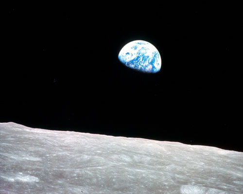 Earthrise from Apollo 8