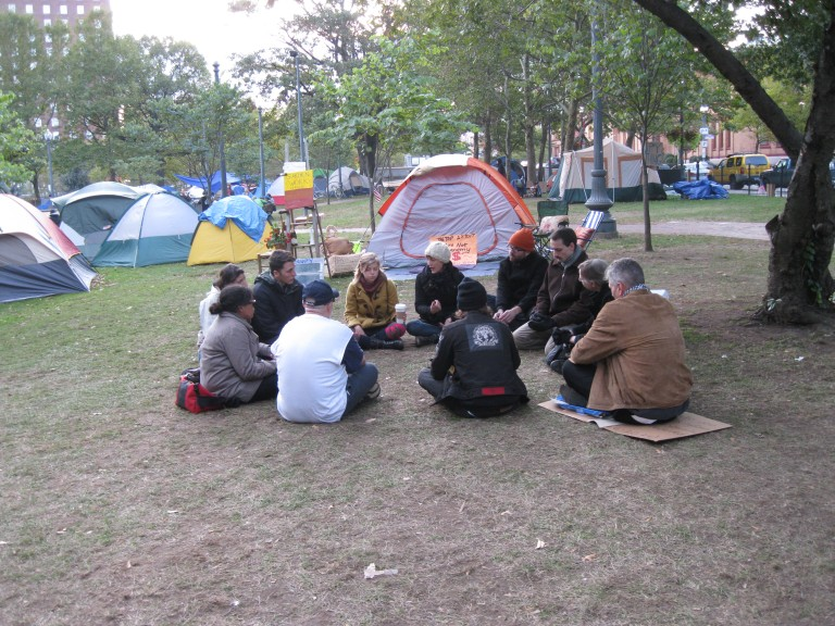 Facilitation Meeting at Occupy Providence