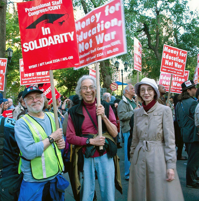 Joyce Carol Oates at Occupy Wall Street